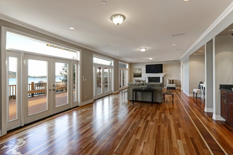 Hardwood flooring in house