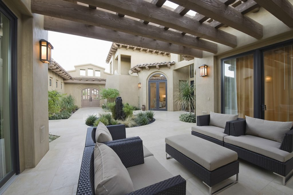 Stylish patio
