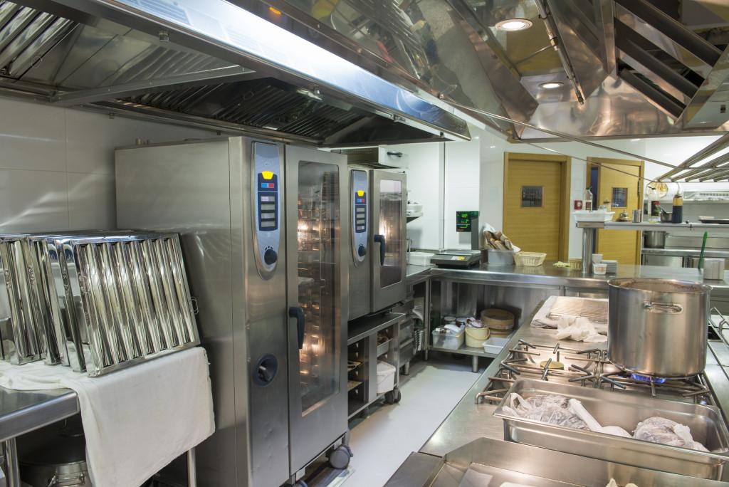 clean kitchen of a restaurant