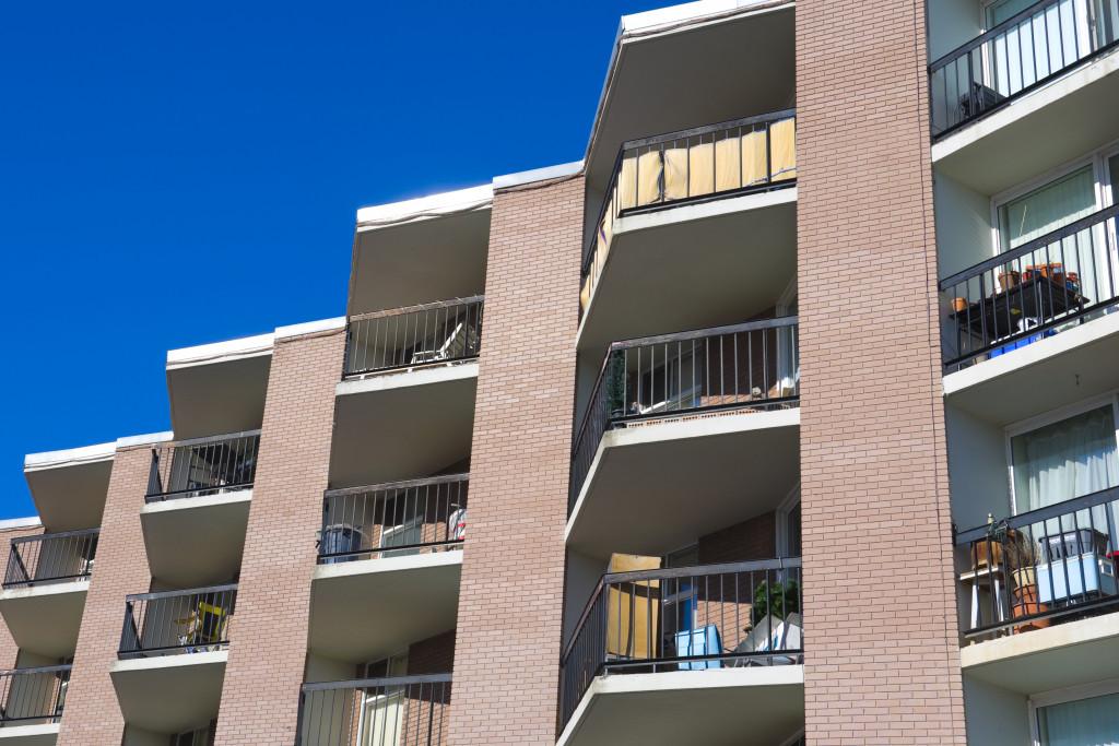 apartment building terraces