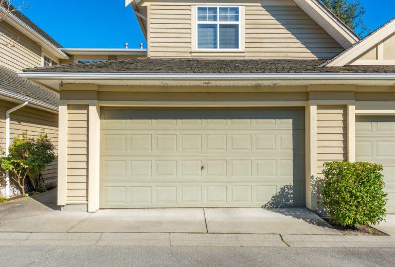 beige garage door